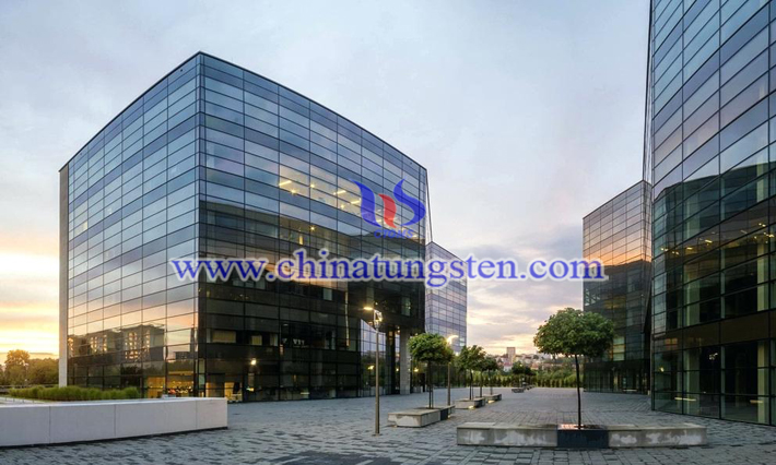 yellow tungsten oxide applied for new energy efficient building glass picture