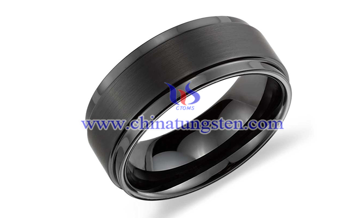 black tungsten ring picture