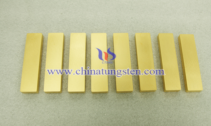 gold plated tungsten ingot picture