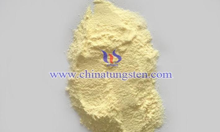 黃色氧化鎢圖片