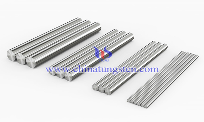 heavy tungsten alloy rod picture