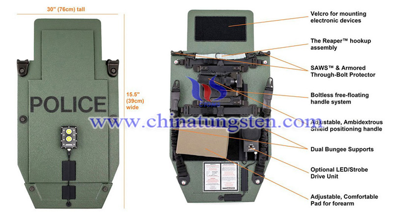 the front and back sides of Mobile Rifle Armor Protective Shield image