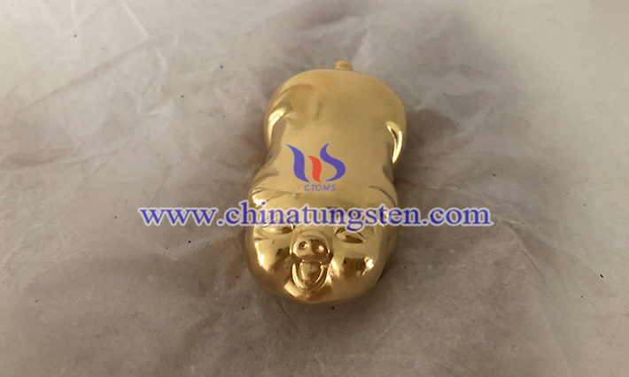 tungsten gold plated pig picture