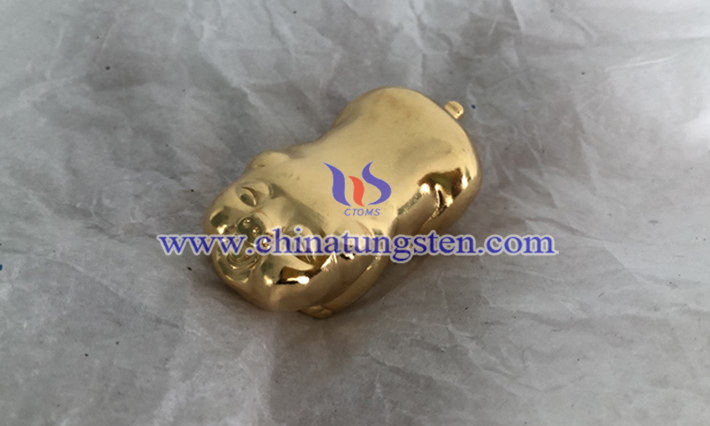 gold plated tungsten zodiac pig picture
