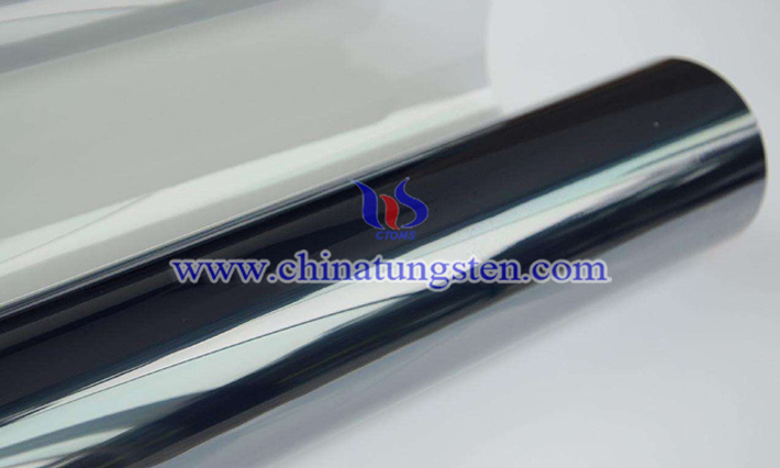 yellow tungsten oxide electrochromic film applied for smart glass picture