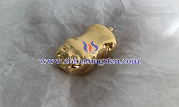 gold plated tungsten alloy pig picture