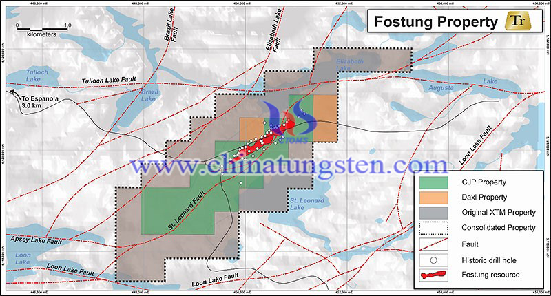 Fostung Property Map and location of Fostung historic resource image
