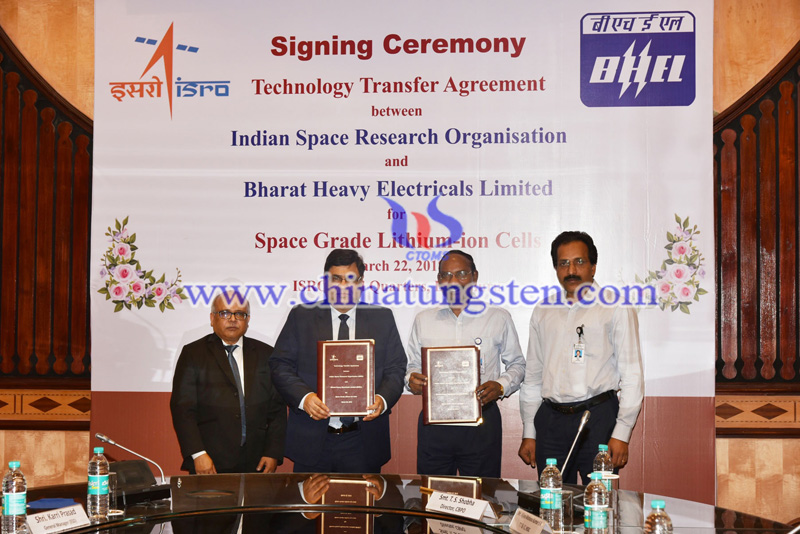 ISRO-BHEL tie up for the production of space grade lithium-ion image