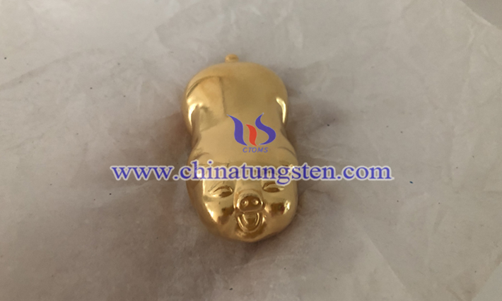 gold plated tungsten pig picture