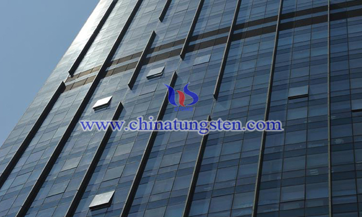 Cs0.32WO3 applied for green building glass curtain wall picture