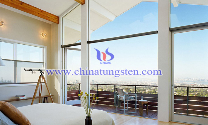 Cs0.32WO3 nanopowder applied for balcony thermal insulating glass coating picture