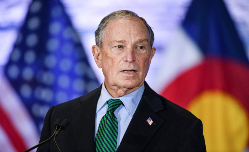 the US democratic presidential candidate Bloomberg image