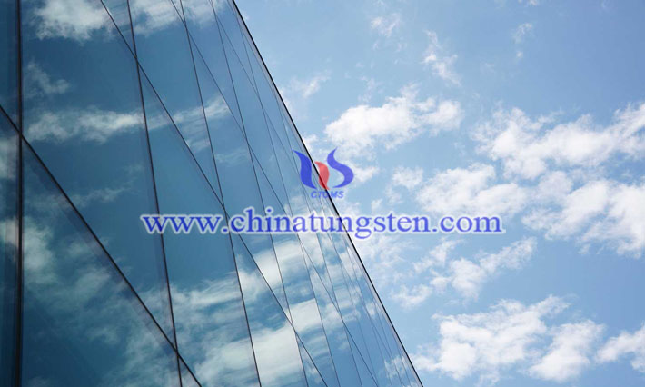 Cs0.32WO3 applied for glass curtain wall picture