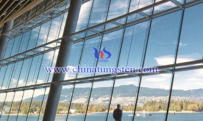 Cs0.32WO3 applied for heat insulating glass coating picture