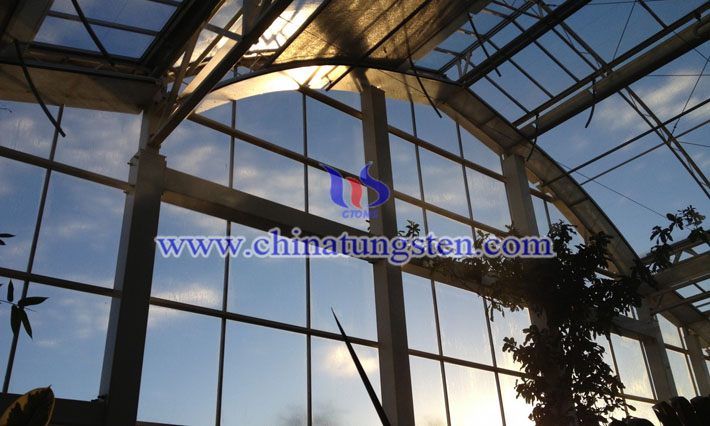 Cs0.32WO3 applied for sun protection glass picture