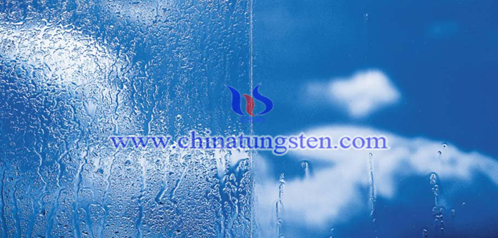 Cs0.32WO3 applied for transparent glass coating picture