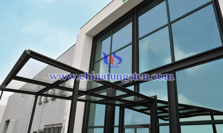 Cs0.32WO3 applied for transparent heat insulating glass picture