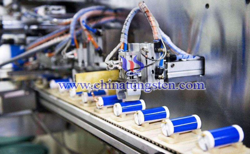 production line of lithium batteries image