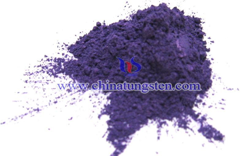 purple tungsten oxide image