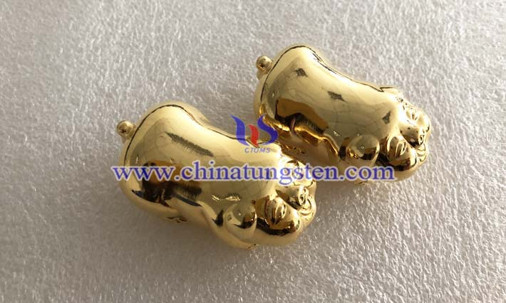 tungsten gold plated zodiac pig picture