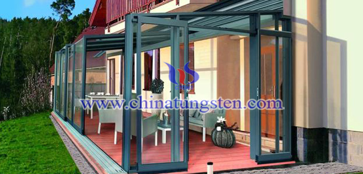 nano tungsten oxide applied for sunroom heat insulation coating picture