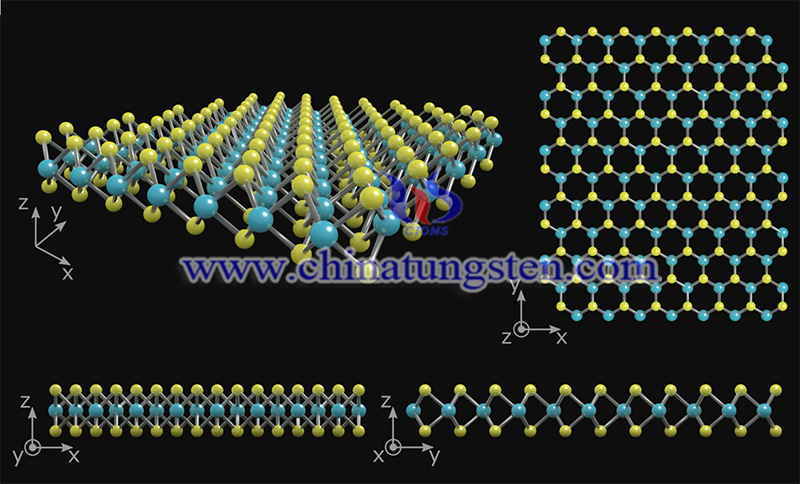 the crystal structure of monolayer MoS2 image