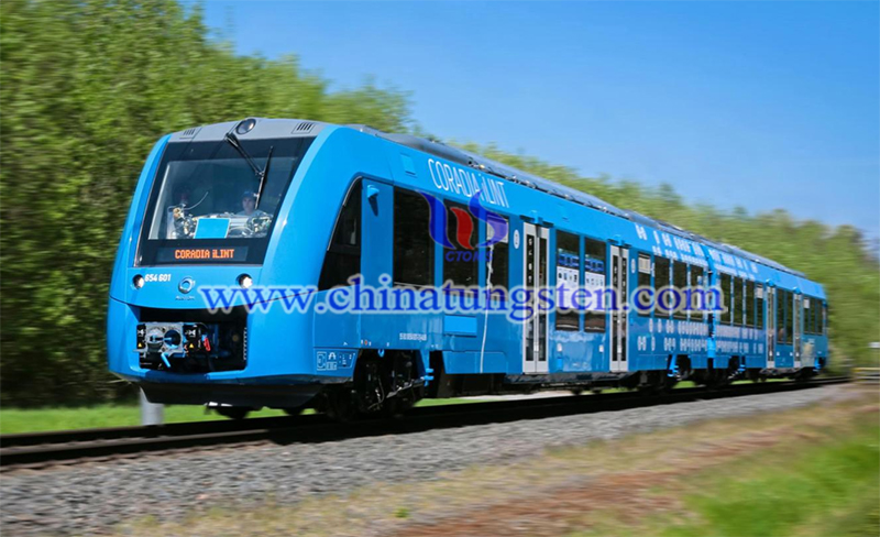 the world first hydrogen-powered train image