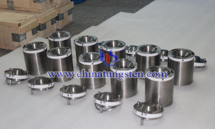 tungsten alloy radioactive source container image