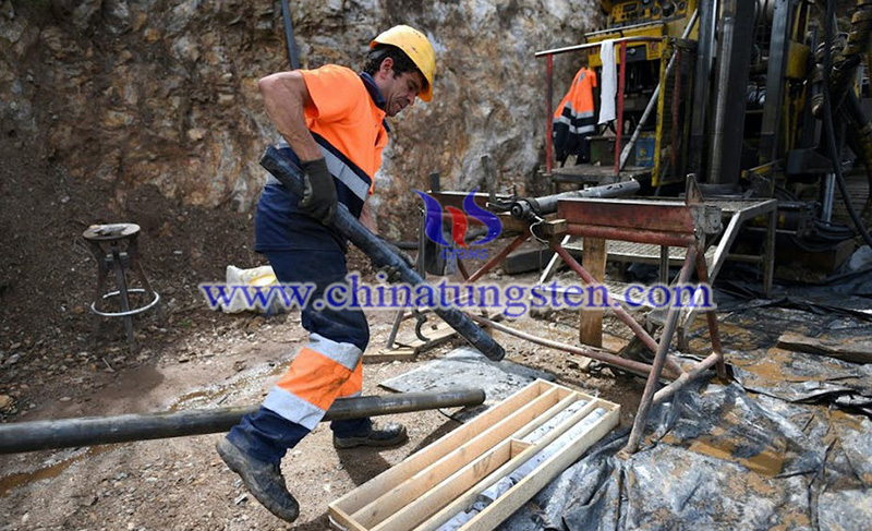 A worker in the Barroso mine in Portugal image