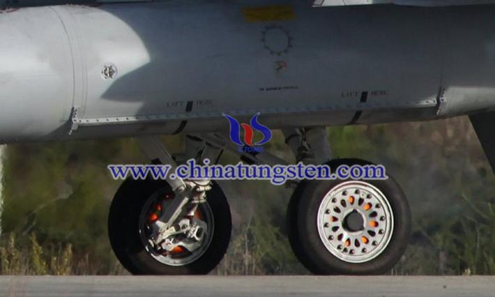군용 항공기에 적용되는 텅스텐 합금 브레이크 패드