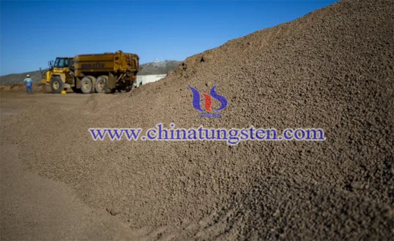 Crushed rare earth ore at a mine run by MP Materials image