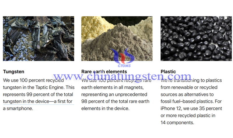 tungsten recycled in iPhone image