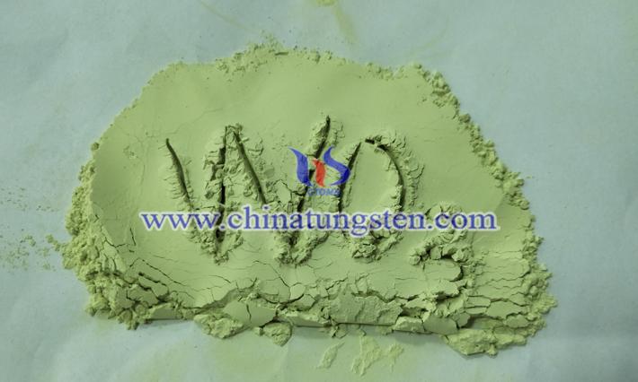 내한성 및 내 방사선 성 복합 재료 이미지에 노란색 텅스텐 산화물 적용