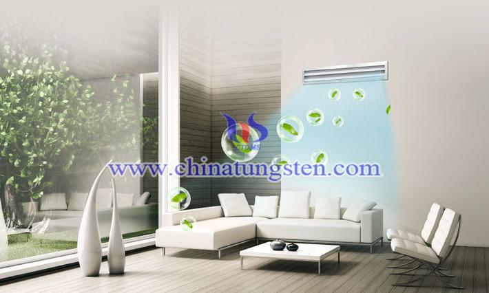 황색 텅스텐 산화물 광촉매 응용 이미지