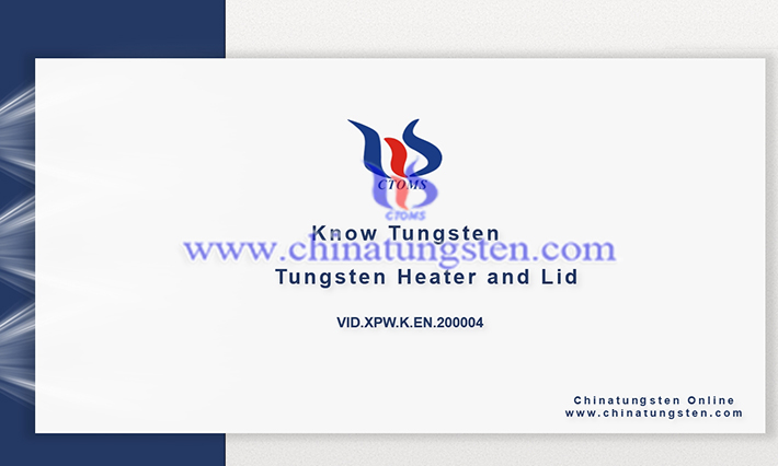 tungsten heater and lid image