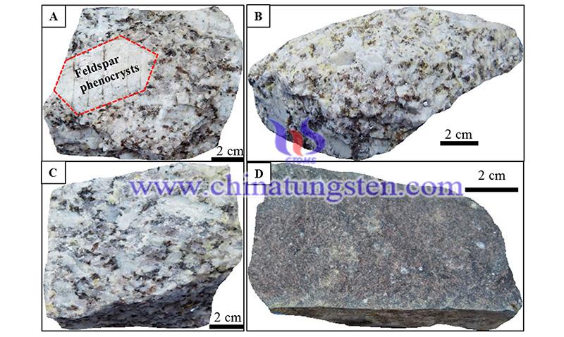 hand specimens of tin-tungsten deposit image