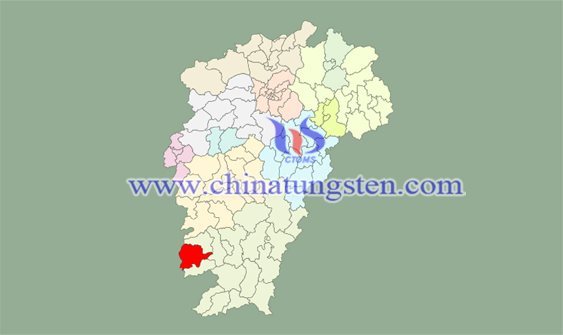 location of Chongyi Country image