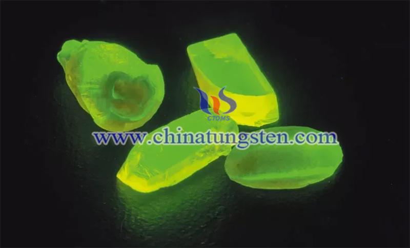 rare earth crystal under UV light image