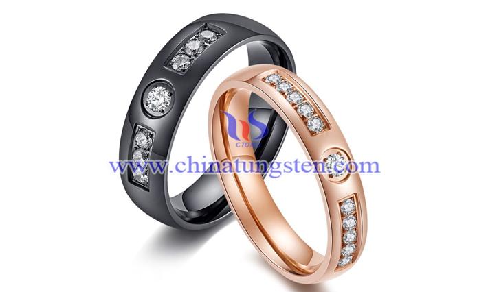tungsten diamond rings picture
