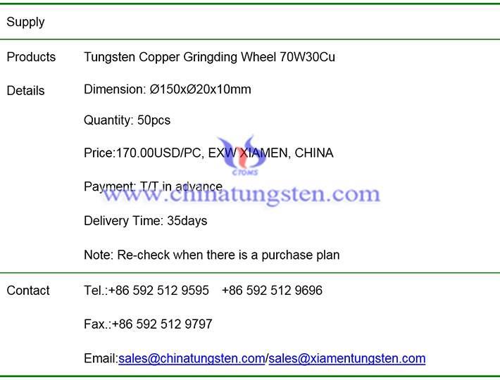 tungsten copper grinding wheel price image