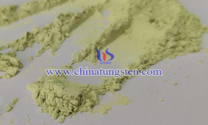 汚染物質吸着画像に適用したナノ黄色酸化タングステン