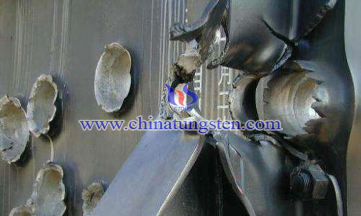 armor penetration effect of tungsten copper alloy liner picture