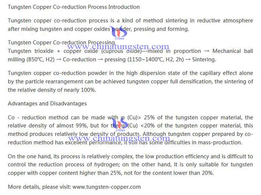 tungsten copper co-reduction picture
