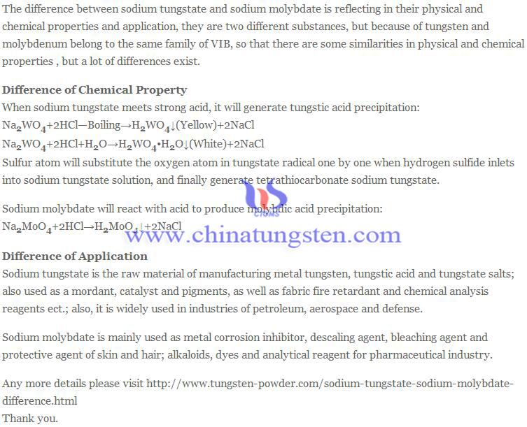 difference of sodium tungstate and sodium molybdate image