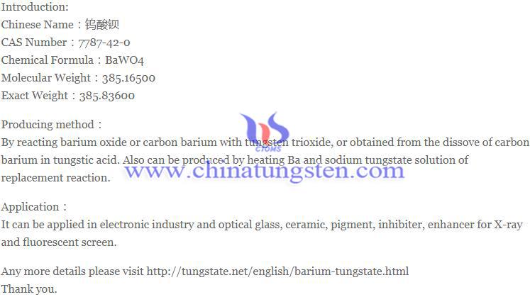 barium tungstate image