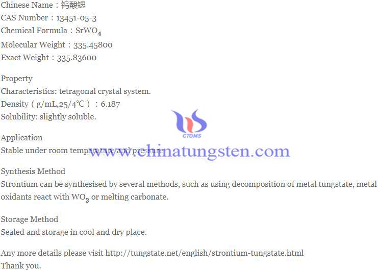strontium tungstate image