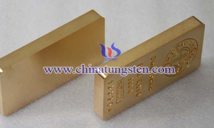 gold plated tungsten bar picture