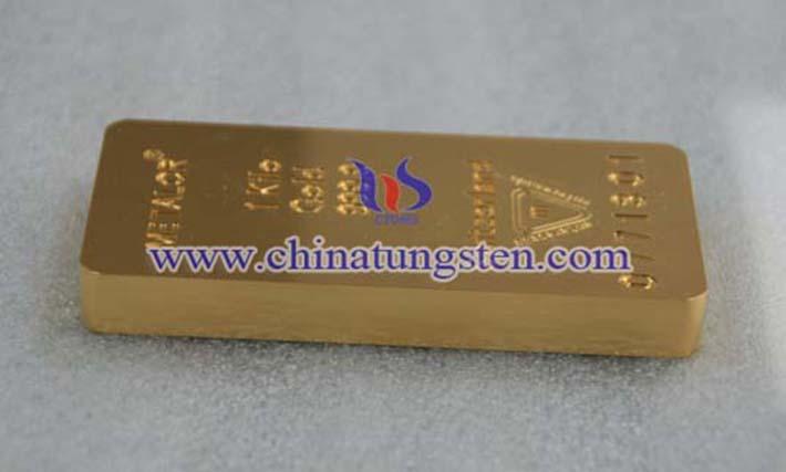 鎢合金鍍金條圖片