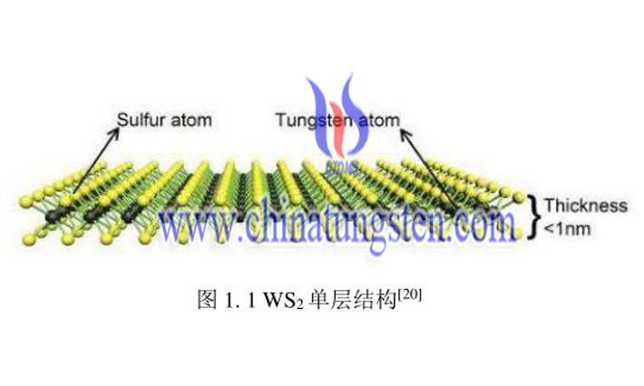Tungsten disulfide single layer structure image